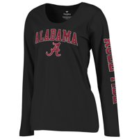 226ca98251c Product Image Alabama Crimson Tide Fanatics Branded Women s Secondary  Distressed Arch Over Logo Long Sleeve Hit T-