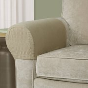 Maytex Stretch Pixel Armrest Furniture Cover Slipcover Brownstone