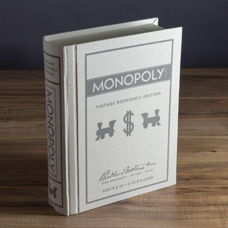 Monopoly Game Linen Book Vintage Edition Vintage Book Game