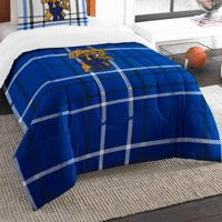 2pc NCAA Kentucky Wildcats Comforter and Sham Set Collegiate Plaid Logo Bedding