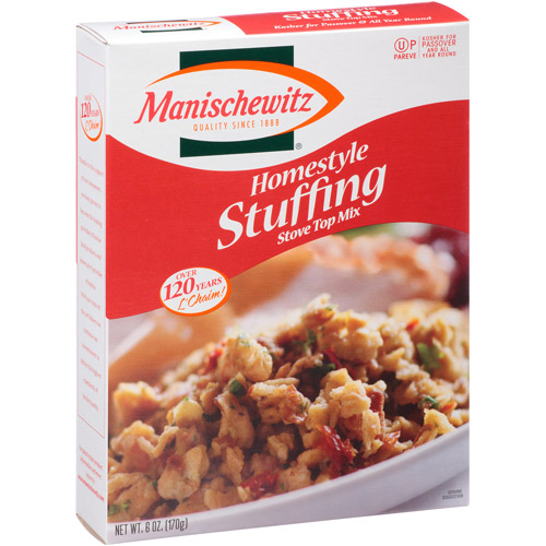 Manischewitz Homestyle Stuffing Stove Top Mix, 6 oz, (Pack of 6)