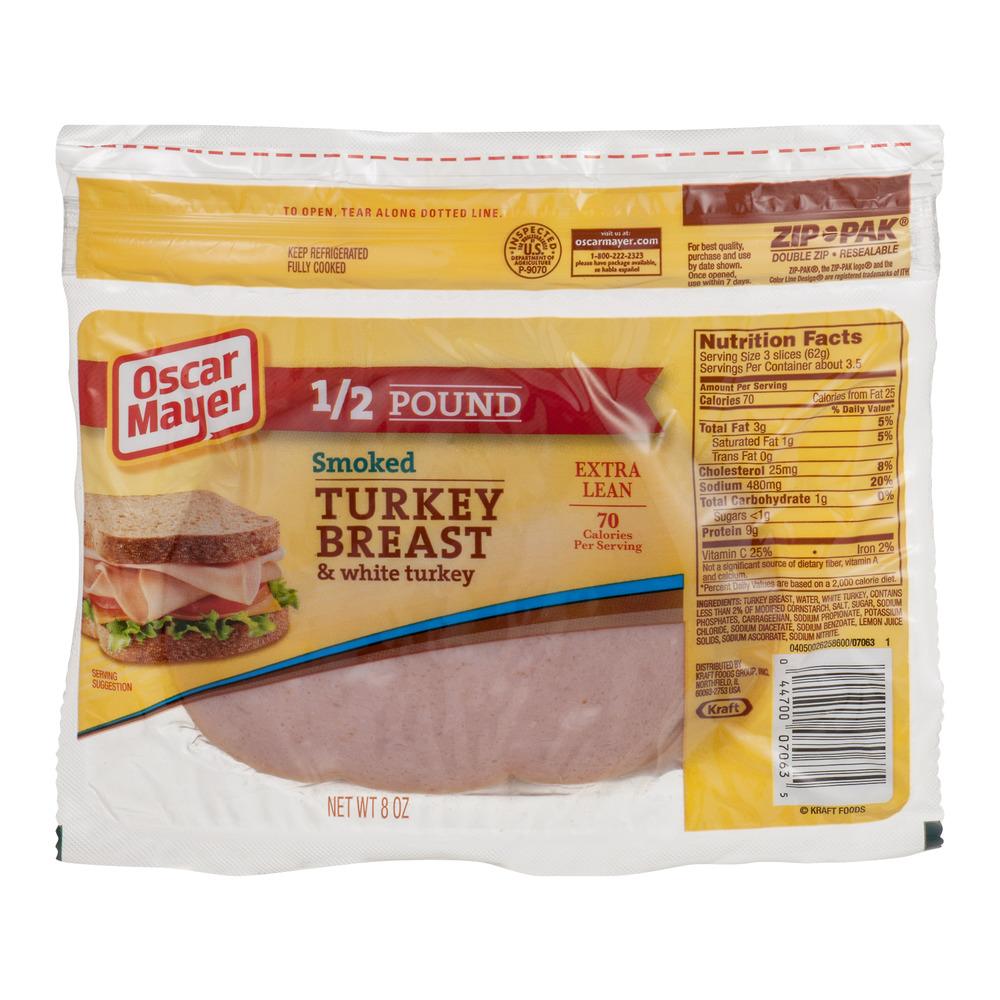Oscar Mayer Smoked Turkey Breast & White Turkey Extra Lean, 8.0 OZ