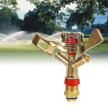 YLSHRF Spray Nozzle,1/2 Inch Connector Brass Rotate Rocker Arm Water Sprinkler Spray Nozzle Garden Irrigation,Connector Water Sprinkler