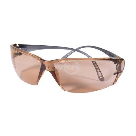 Copper Disc Drop (Elvex Helium 18 Safety Glasses. 50% VLT Copper Blue Blocker AF/Polycarbonate Lens, ErgoFit contour