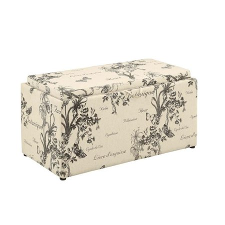 Convenience Concepts Sheridan Storage Bench with Ottomans in Botanical - image 2 of 4
