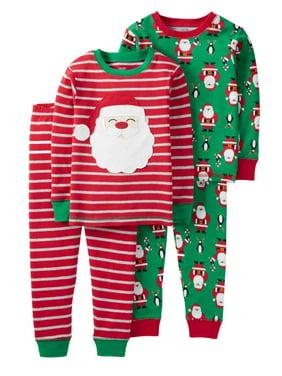 52cbb29165 Product Image Carters Infant   Toddler Boys Red Santa Pajamas PJs 2 Pack Set