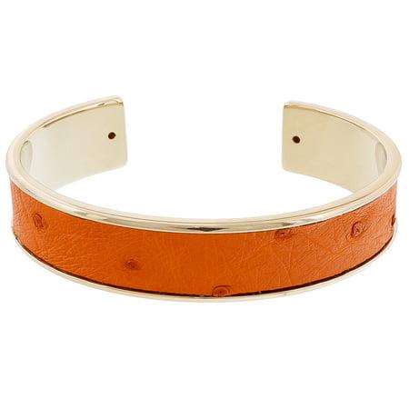 (Stamerra MEMAN STRUZZO NAR Orange Genuine Ostrich Bracelet)