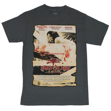 Dead Island (Hit Enix PS3 XBOX 360 Game) Mens T-Shirt  - Blood Splattered Movi](Halloween Blood Splatter Clothes)