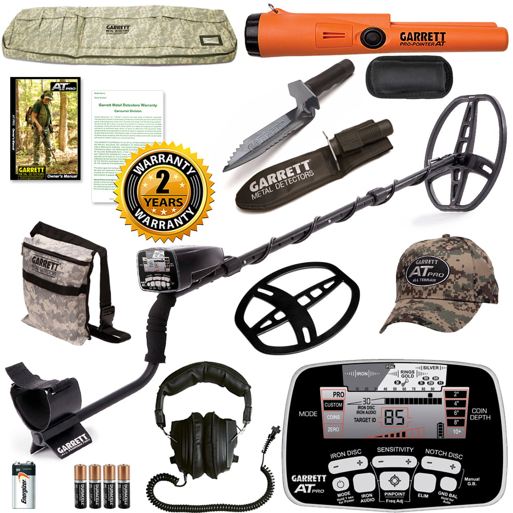 Garrett AT Pro Metal Detector Diggers Special with Pro Pointer AT PinPointer by