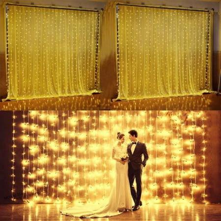 Meigar Colorful Curtain 3Mx3M 300 LED Icicle Lights String Fairy Light Wedding Party Christmas Home Garden Decor](Halloween 300)