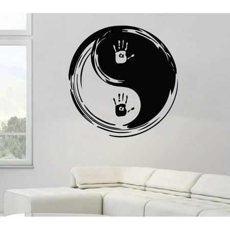 93556cc263 Stickalz llc Taoism (Daoism) Symbol The Palms Yin and yang Vinyl Sticker  Wall Art - Walmart.com
