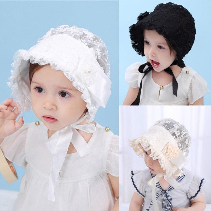 Infant Newborn Baby Girls Kids Lace Hat Cap Beanie Bonnet Hats Hair Accesorries