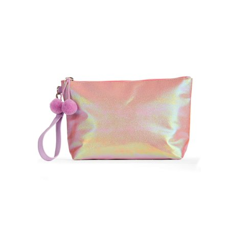 No Boundaries Iridescent Wristlet Pouch