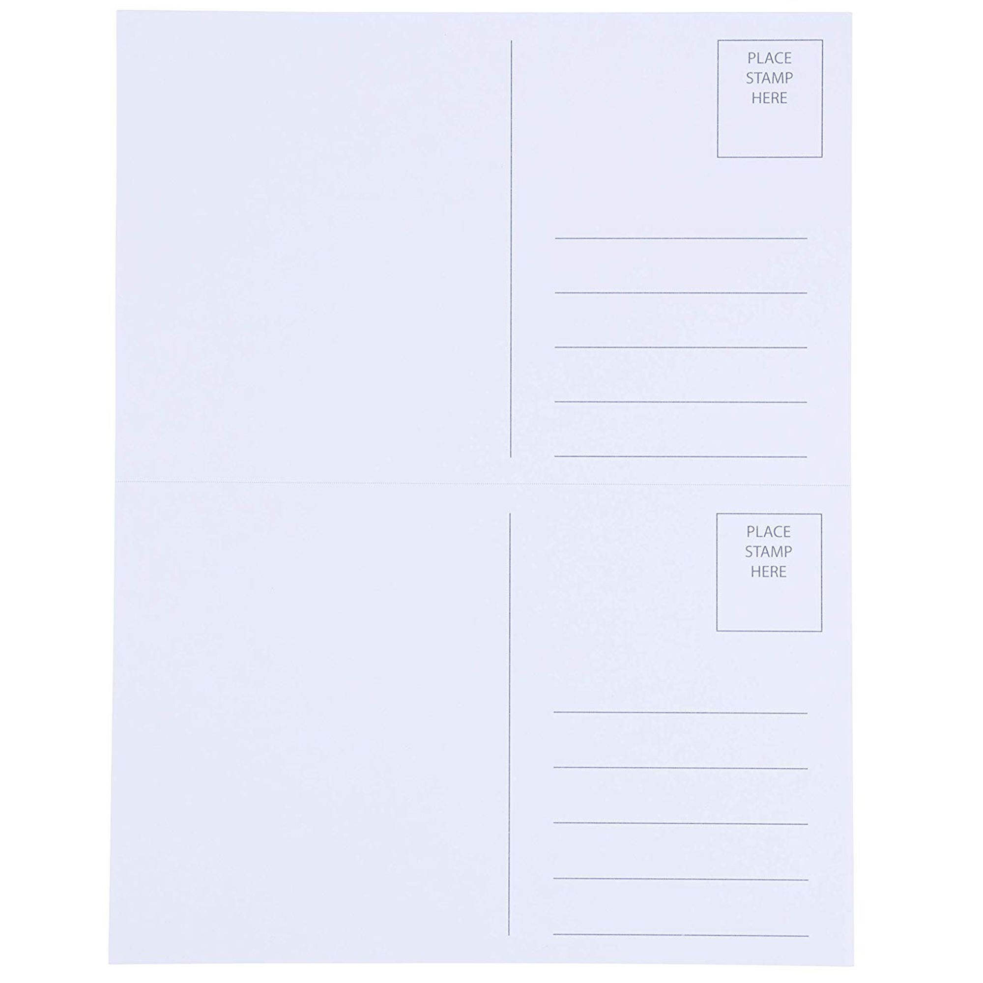 photo about Printable Postcard referred to as Blank Postcards - 100-Sheet 200-Playing cards Printable Postcards, 2-Up Perforated Laser and Inkjet Printer Postcards, Self Mailer Mailing Aspect Postcards,