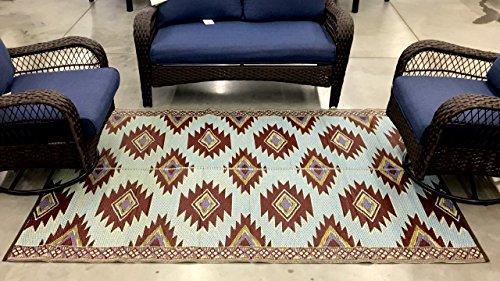 2 pk reversible indoor outdoor rug pet patio rug rv camping mat