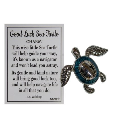 Ganz Good Luck Sea Turtle Pocket Charm with Story -