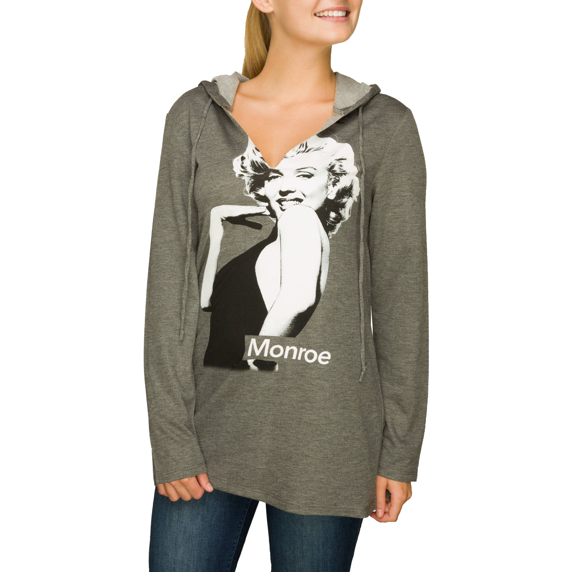 "Juniors' Marilyn Monroe ""Glamour Girl"" Super Soft Tunic Hoodie"