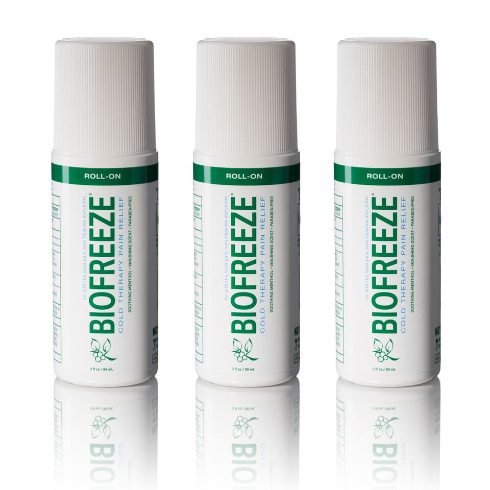 Biofreeze 3oz Roll-On Triplet Pack - Green