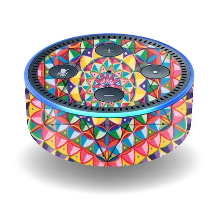 MightySkins Skin Compatible With Amazon Echo Dot (2nd Generation) wrap cover sticker skins Abstract Garden (Rave Sonnenbrille Amazon)