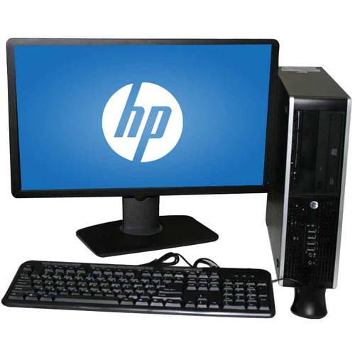 "Refurbished HP 8000 SFF Desktop PC with Intel Core 2 Duo E8400 Processor, 8GB Memory, 22"" LCD Monitor,... by HP"