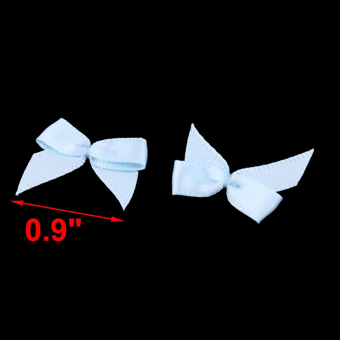 Home Polyester DIY Handcraft Clothing Shirt Scarf Bowknot Bow Light Blue 100 Pcs - image 2 de 3