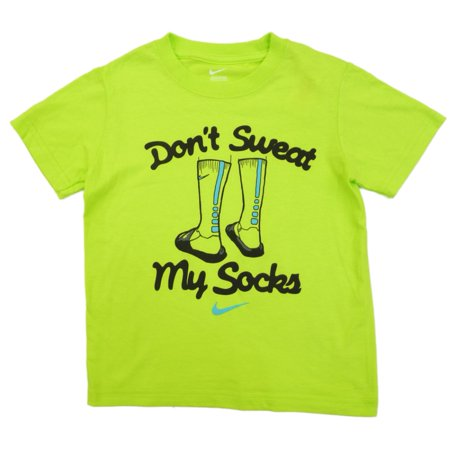 Nike Toddler   Boys Green Dont Sweat My Socks T Shirt