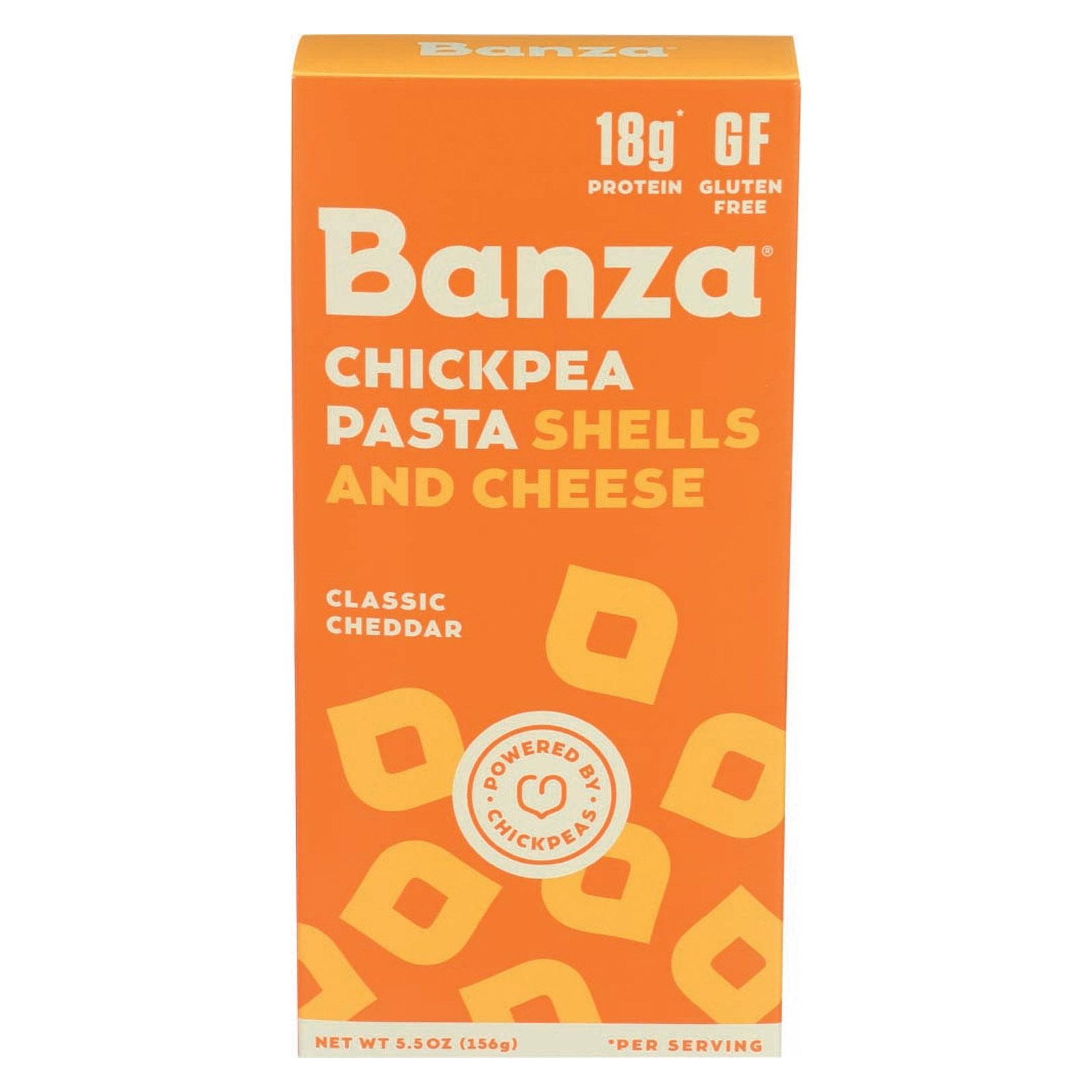 Banza Shells & Cheese - Chickpea - pack of 12 - 5.50 Oz