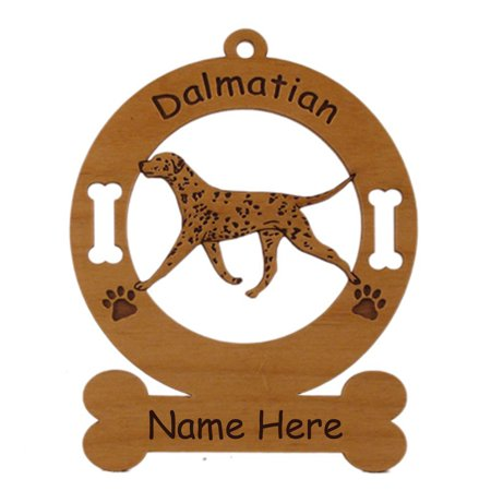 Dalmatian Gaiting Dog Ornament Personalized with Your Dog's Name (Personalized Dalmatian)