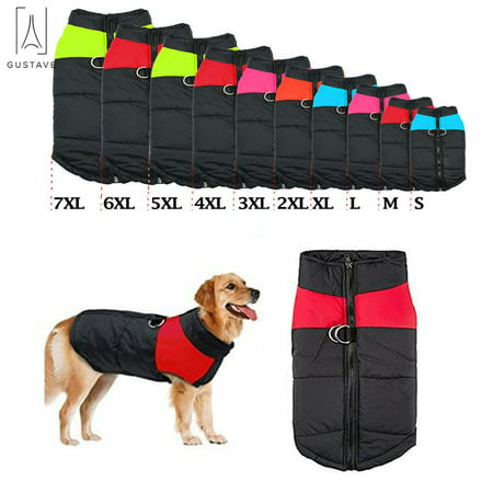 GustaveDesign Waterproof Warm Dog Clothes for Winter Pet Coat Protection Down Dog Vest For Medium Dogs (15lb-66lb)