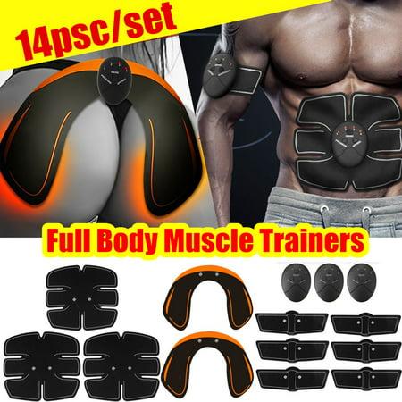 14Pcs/set ABS Stimulator, Buttocks Enhancer Abdominal Muscle Trainer Smart Full Body Building Fitness Workout For Hip/Abdomen/Arm/Leg Training - Type