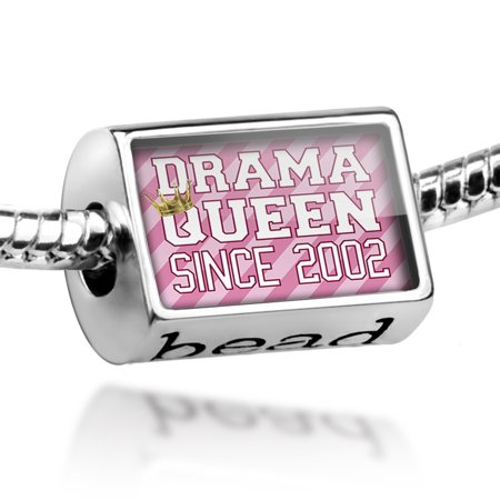 Bead Drama Queen since 2002, in pink Charm Fits All European (2002 Charmes)