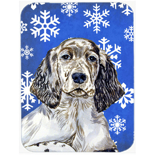 Caroline's Treasures Snowflakes English Setter Glass Cutting Board