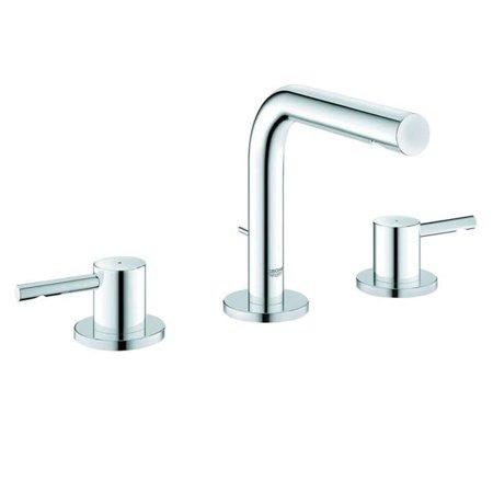 Grohe Infiniti Brushed Nickel Essence Wideset Bathroom Faucet ...