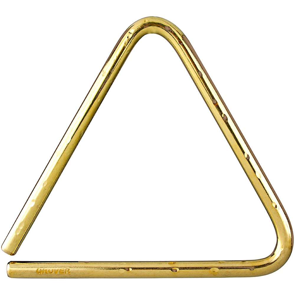 Grover Pro Bronze Hammered Lite Symphonic Triangle 5 in.
