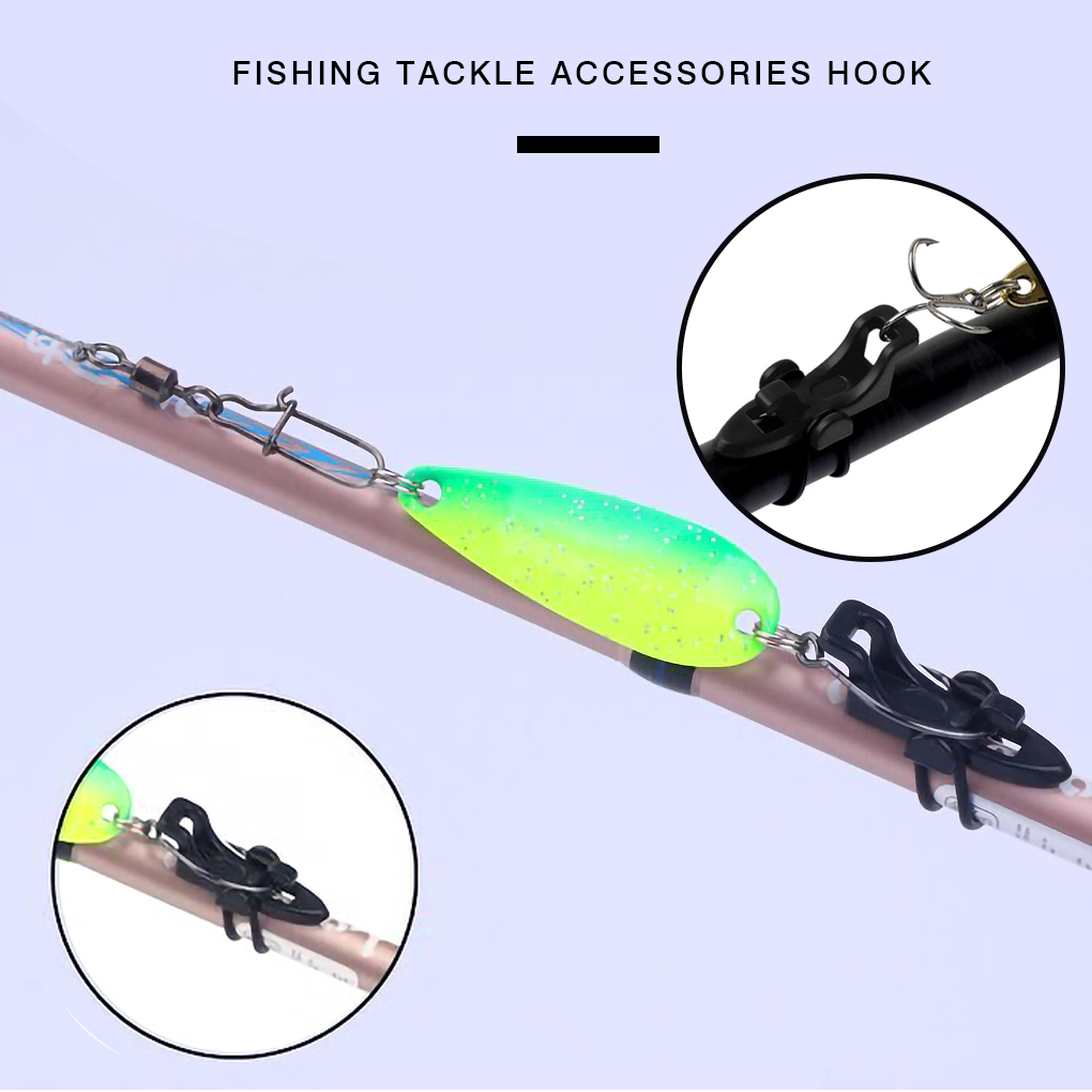 New Fishing Rod Pole Hook Keeper Lure Spoon Bait Holder Tackle Accessories O3T6