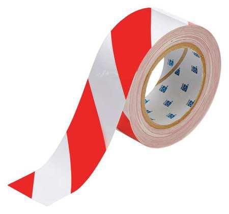 Floor Marking Tape,Roll,2In W,100 ft. L BRADY 104318