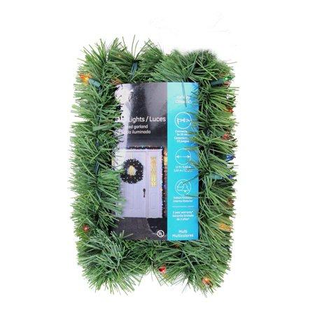 12 X 3 Pre Lit Green Pine Indoor Outdoor Artificial Christmas