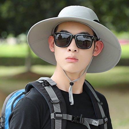 1e14e1832e5eef Outdoor Sun Protection Wide Brim Bucket Hat Waterproof Breathable Packable  Boonie Hat for Safari Fish - Walmart.com