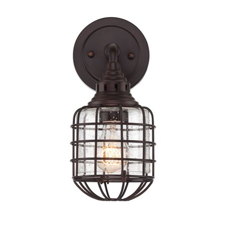 Rover Station - River Station English Bronze 6-Inch One-Light Wall Sconce