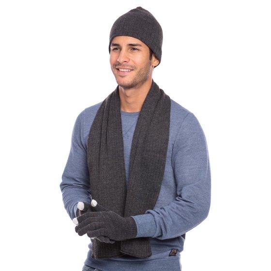 0da1f05b441 Casaba Winter 3 Piece Set Beanie Hat Scarf Touchscreen Gloves Cable Knit  for Men Women