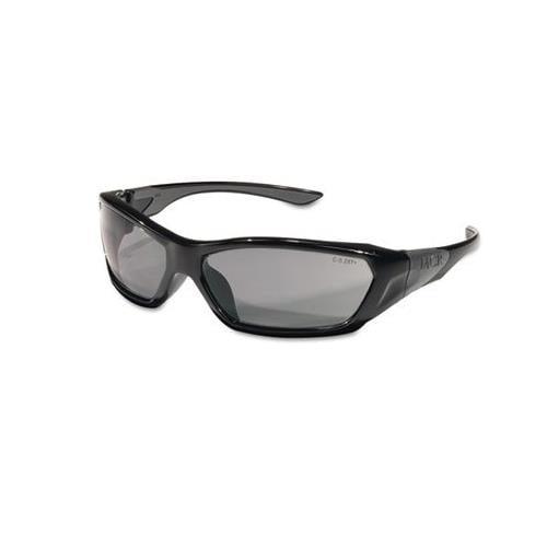 CREWS, INC. Forceflex Safety Glasses, Black Frame, Gray Lens