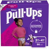 Pull-Ups Girls' Learning Designs Training Pants, 3T-4T, 66 Ct