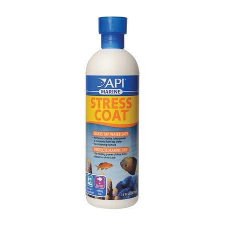API Marine Stress Coat, Saltwater Aquarium Water Conditioner, 16 oz Aquarium Pharmaceuticals Stress Coat