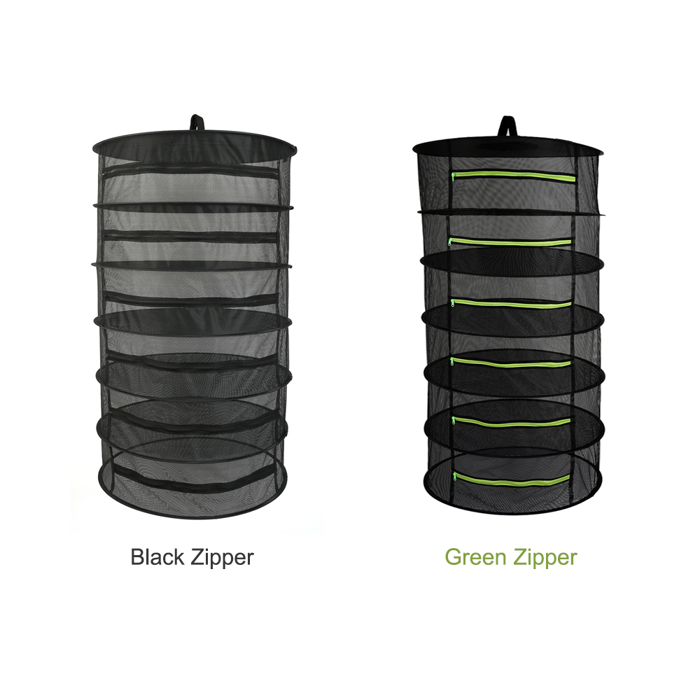 2-8 Layers Herb Drying Net Hanging Basket Dry Rack Flowers Plants Clothes Dryer