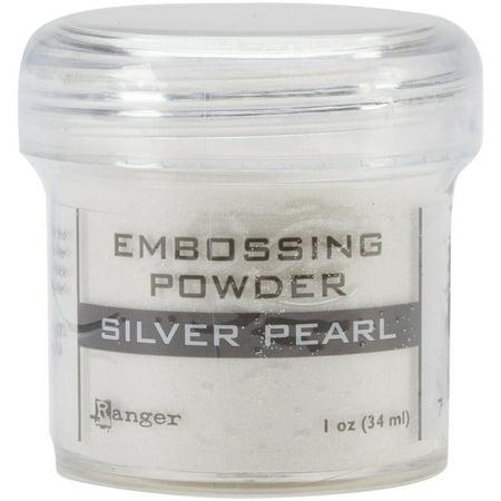 (Ranger Embossing Powder Silver Pearl)