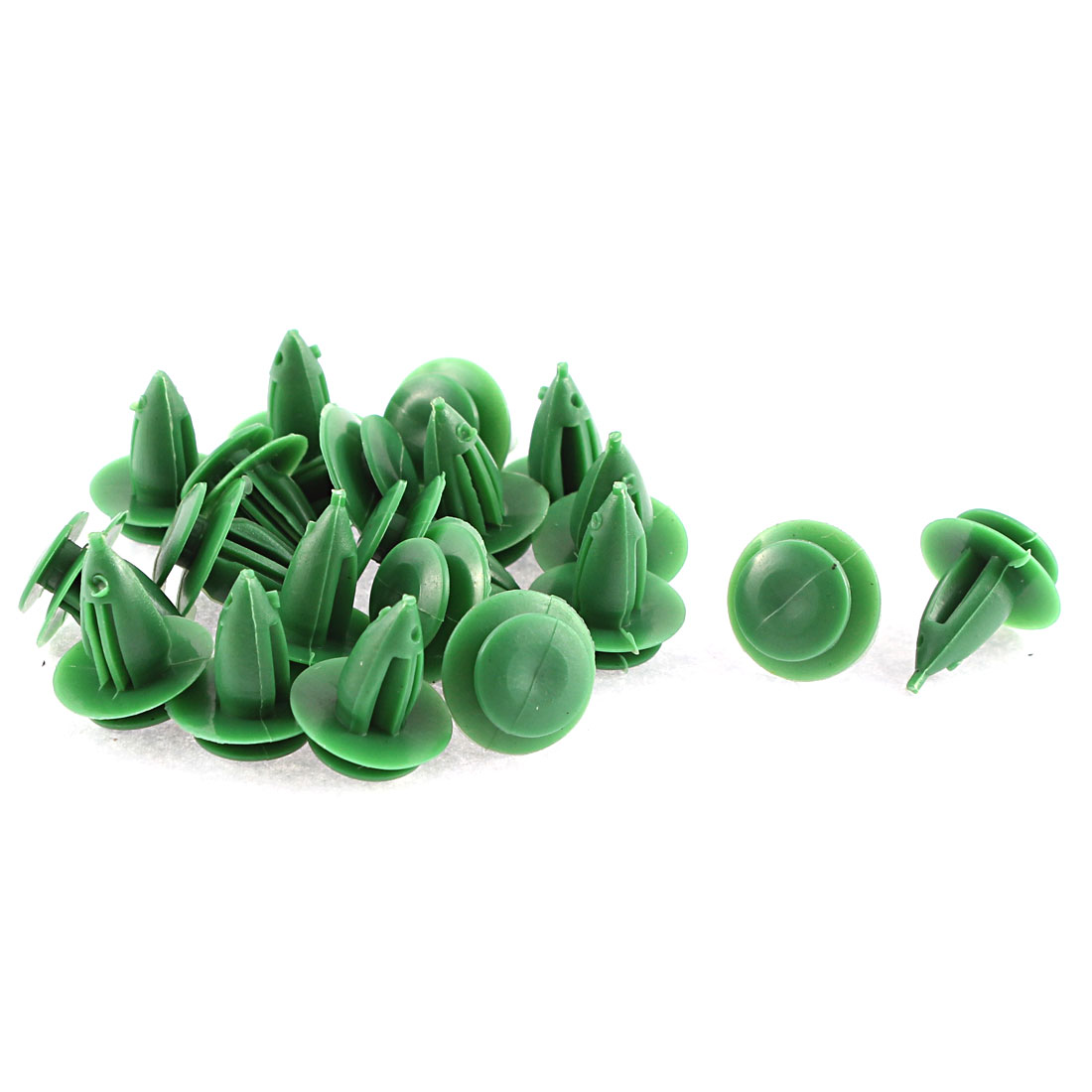 Unique Bargains 100 Pcs Green Plastic Push-Type Moulding Trim Panel Door Retainer Clip