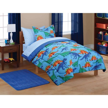 mainstays kids 39 dinosaur coordinated bed in a bag. Black Bedroom Furniture Sets. Home Design Ideas