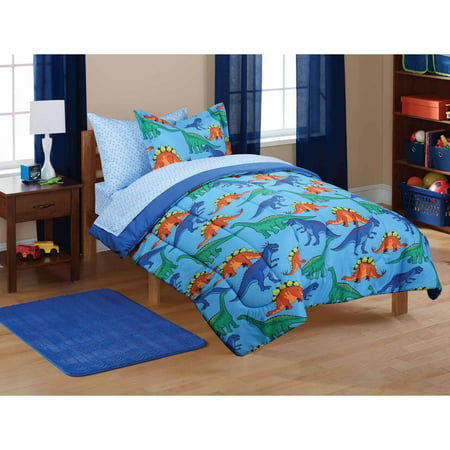 Mainstays Kids Dinosaur Coordinated Bed In A Bag 1 Each