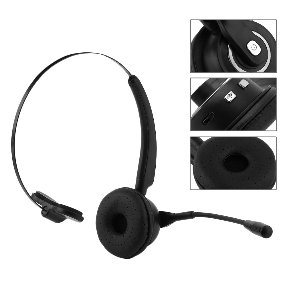 wireless bluetooth headphones noise cancelling headphones with mic stereo over-ear headphones