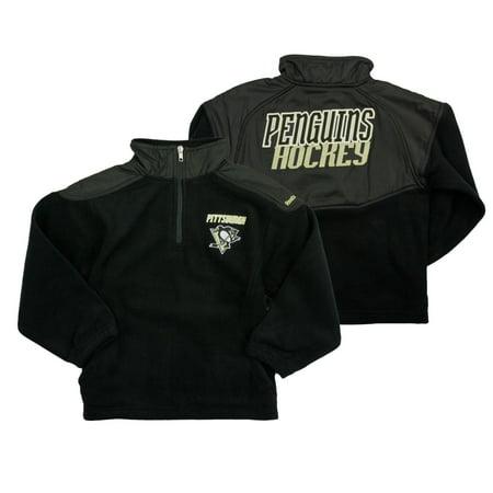 Reebok NHL Little Kids Pittsburgh Penguins The Flux 1/4 Zip Pullover Sweater, Black